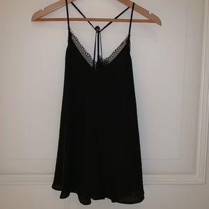 ****SOLD*****Loft black camisole with lace details